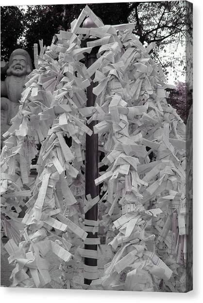 Temples Canvas Print - Inside Temple Garden by Naxart Studio