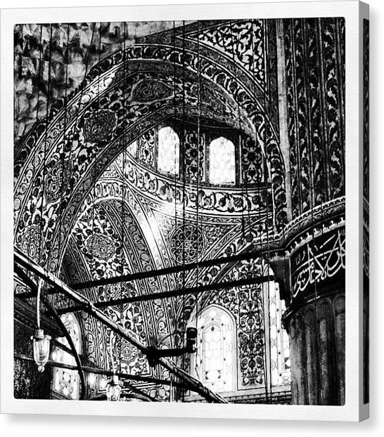 Islam Canvas Print - Inside The Famous #bluemosque In by Michelle Behnken