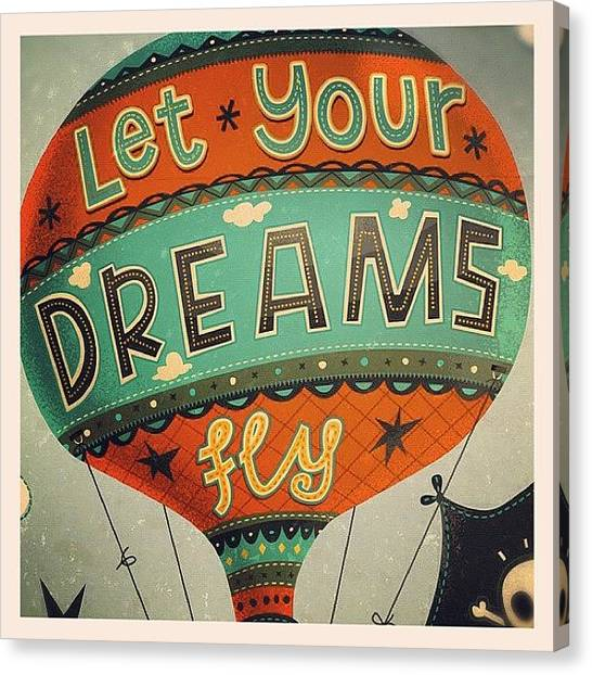 Balloons Canvas Print - Inspirational Message Or Simply Hot by Steve Simpson