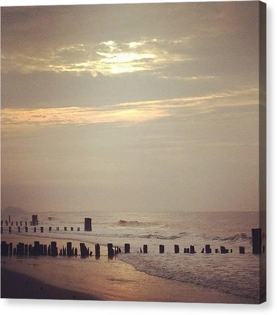 Beach Sunrises Canvas Print - #insta #instagood #instacool #instahub by Tetyana Gobenko