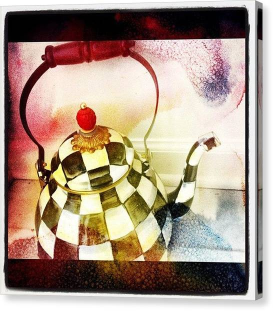 Tea Pot Canvas Print - #instaeffectfx #tea #teapot #pot by Alicia Greene