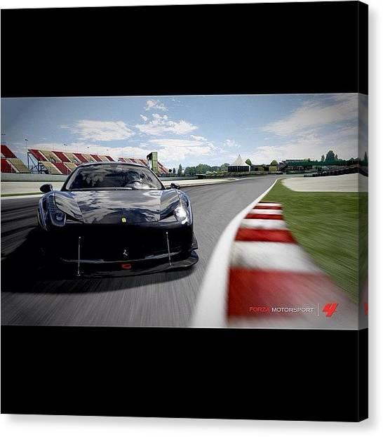 Ferrari Canvas Print - #instagood #ig #photooftheday by Serge Yeterian