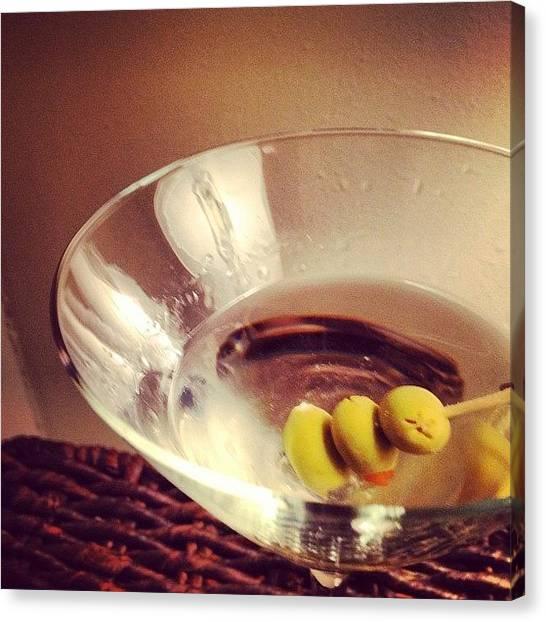 Martini Canvas Print - #instagood #instagram #foodporn #food by Jonathan Bouldin