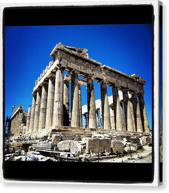 The Acropolis Canvas Print - #instagood #instagram #iphonesia by Bruno De La Mola