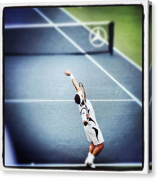 Tennis Canvas Print - #instagram #instamood #instamoid by Christian Picot