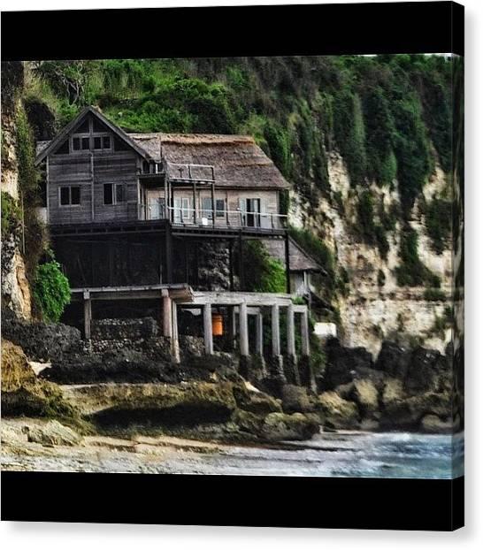 Beach Cliffs Canvas Print - #instagram #instanusantara #dreamland by Rudi Gunawan