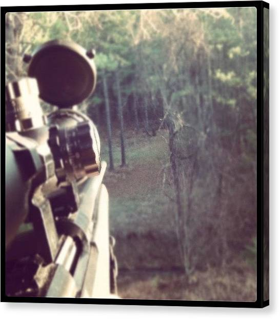 Guns Canvas Print - #instagram #nature #gun #rifle #hunting by Aaron Justice