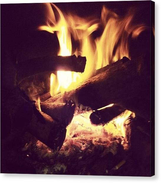 Flames Canvas Print - Instagram Photo by Bogdan Nita