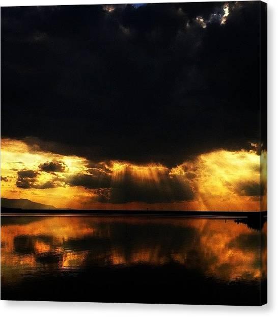 Lake Sunrises Canvas Print - Instagram Photo by Krum Zhikov