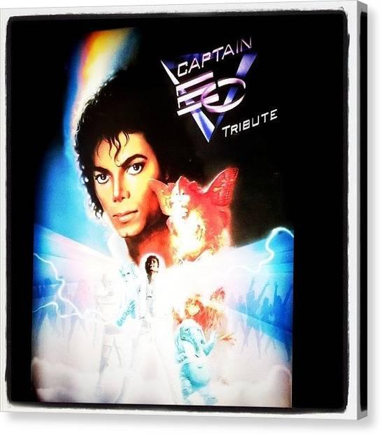 Michael Jackson Canvas Print - Instagram Photo by Mooj A
