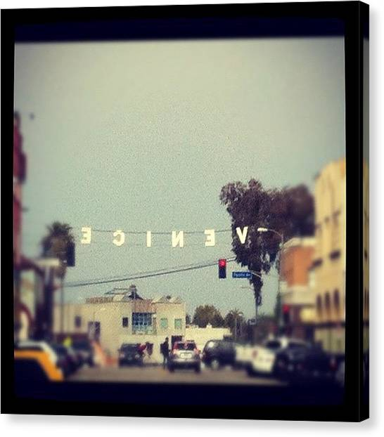 Venice Beach Canvas Print - Instagram Photo by Ninette Quiles