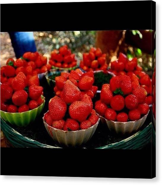 Strawberries Canvas Print - Instagram Photo by Rachit Vats