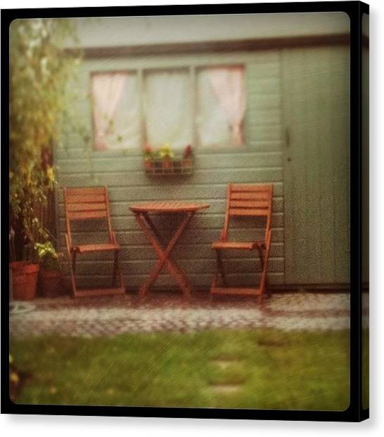 Tables Canvas Print - #instagram #photooftheday #garden by Just Berns