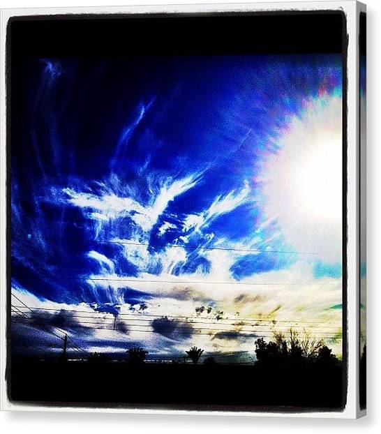 Basketball Teams Canvas Print - #instagramaz #cloudporn #sun #clouds by CactusPete AZ