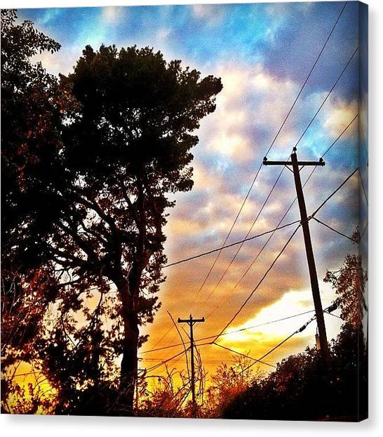 Basketball Teams Canvas Print - #instagramaz #sunset #sun #clouds by CactusPete AZ