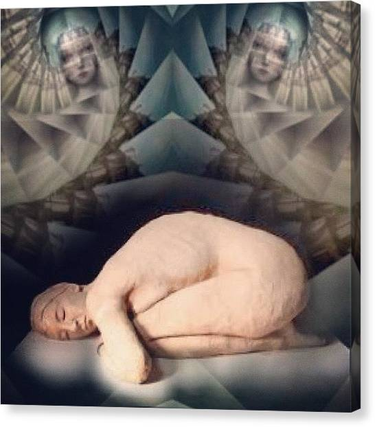 Art Deco Canvas Print - #insta_magical #horror #symmetry#sleep by Antonella Marani