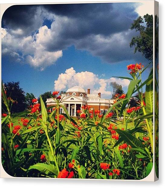 White House Canvas Print - #instaphoto #insawesome #instamood by Christian Picot