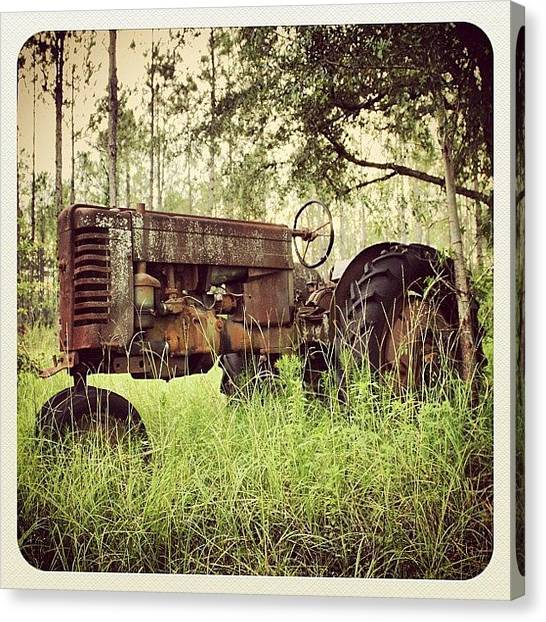 Tractors Canvas Print - #instapicture #instagramhub #instadaily by April J