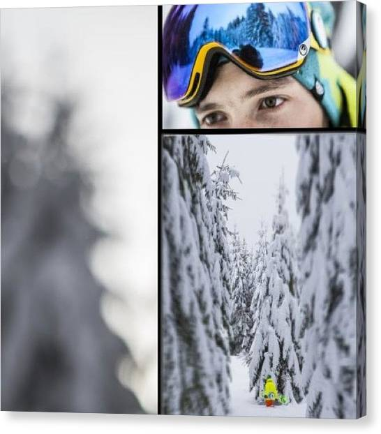 Snowboarding Canvas Print - #instaprint #instagram #winter #snow by Oprea George