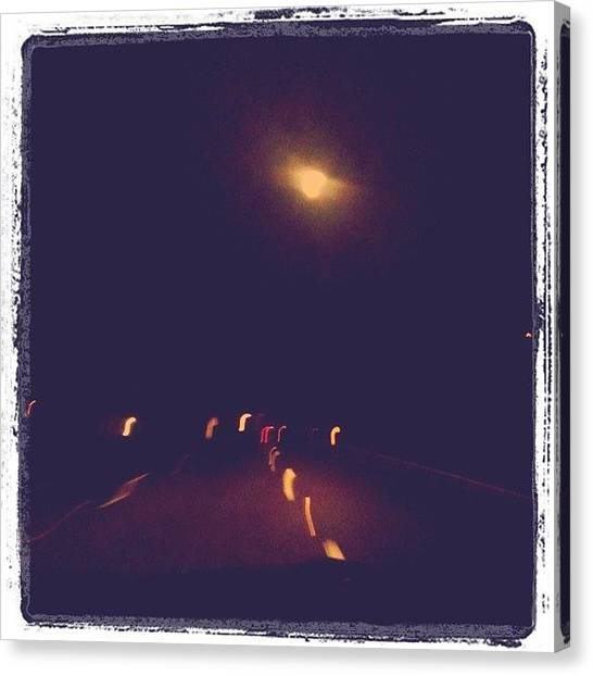 Knights Canvas Print - Interesting Night. The Moon Is So by Chels Knight
