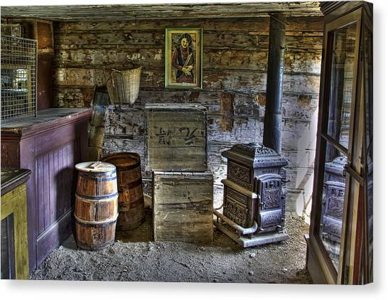 Grocery Store Canvas Print - Interior Of Old-west Chinese Store - Nevada City Montana by Daniel Hagerman