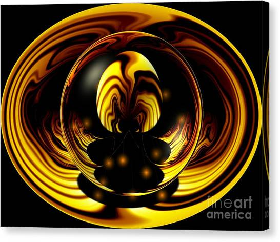 Fire Ball Canvas Print - Internal Flames by Laurence Oliver