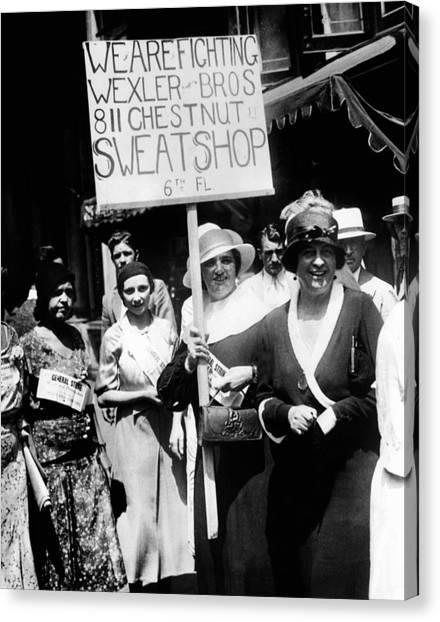 Philadelphia Union Canvas Print - International Ladies Garment Workers by Everett