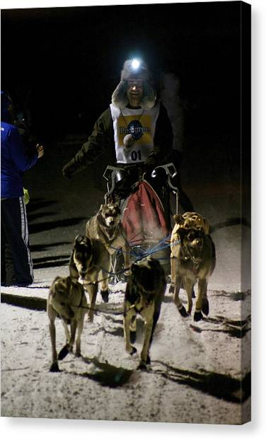 International Pedigree Stage Stop Sled Dog Race Jackson Hole Wy Canvas Print