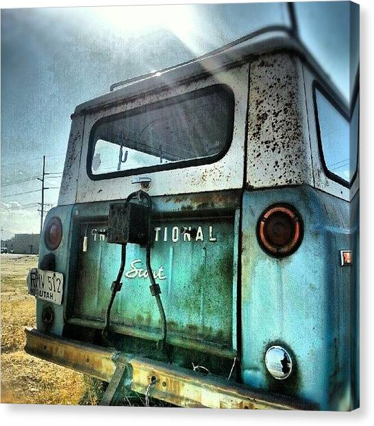 Offroading Canvas Print - International Scout In Need Of Some by Carlos Caceres