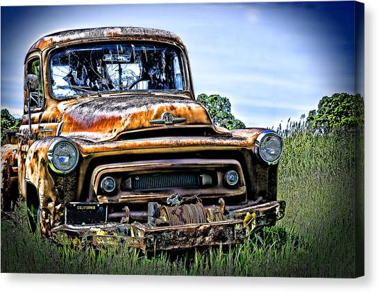 International Truck Alone And Rusting Canvas Print