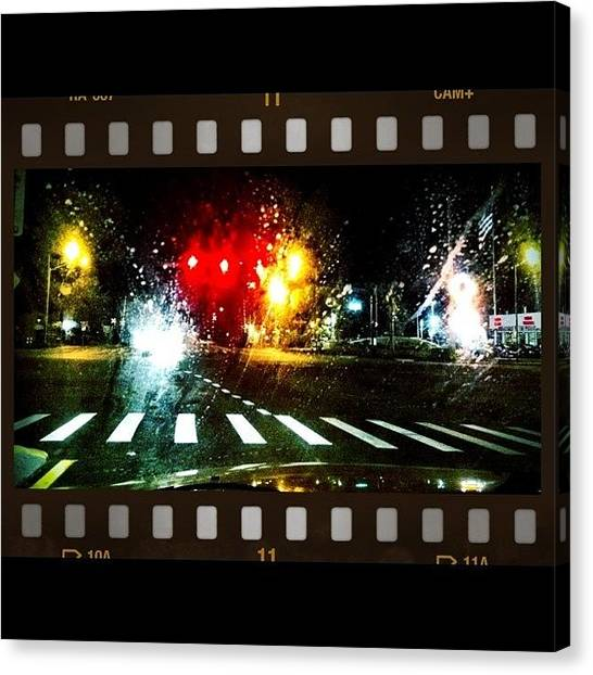 Stoplights Canvas Print - Intersection Noire #stoplight #car by Hunter Goodenow
