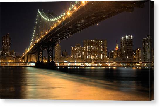 The City That Never Sleeps Canvas Print - Into Manhattan  by JC Findley