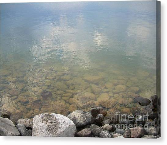 Into The Lake Canvas Print