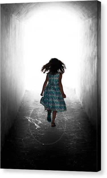 Into The Light Canvas Print by Matt Dobson