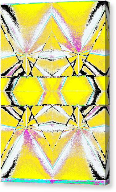 Into The Sky Yellow Canvas Print