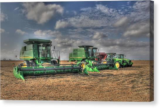Iowa Soybean Pickers Canvas Print