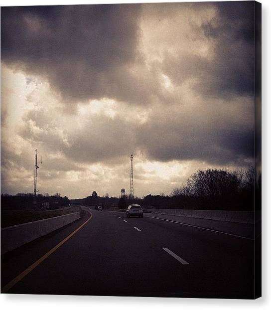 Interstates Canvas Print - #iphone #eastbound #tennessee #driving by S Smithee