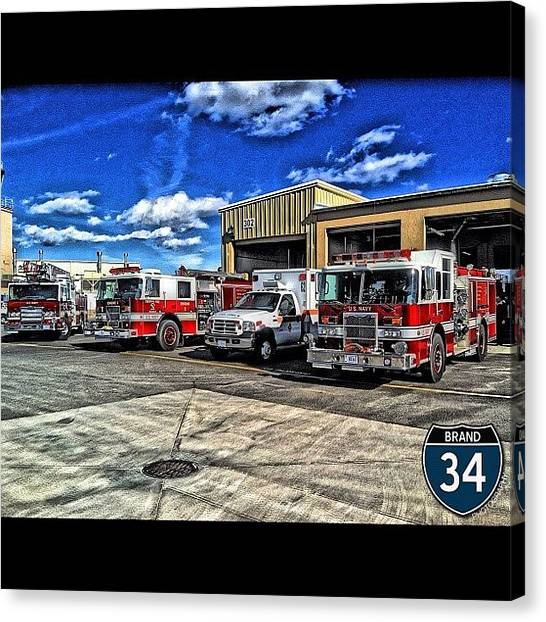 Firefighters Canvas Print - #iphone #hdr #hdrphotography by James Crawshaw