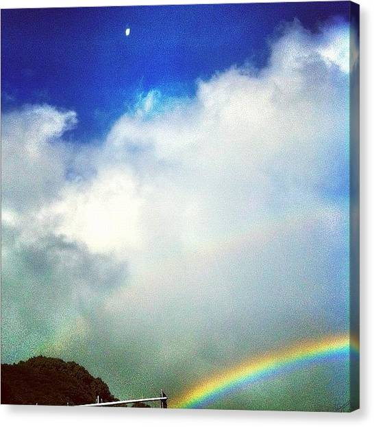 Outer Space Canvas Print - #iphone #instagram #doublerainbow by Debi Tenney