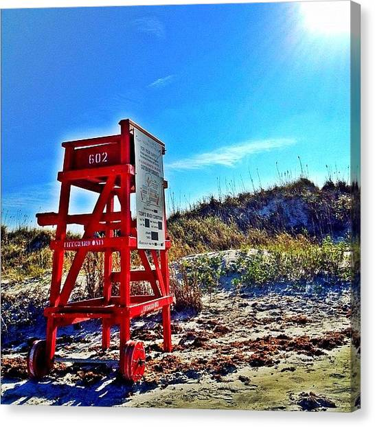 Lifeguard Canvas Print - #iphone4s #iphoneonly #instagram by Matt Turner