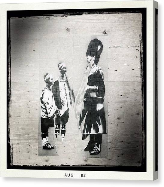Bacon Canvas Print - #iphoneography #blackandwhite #graffiti by Neil Bacon