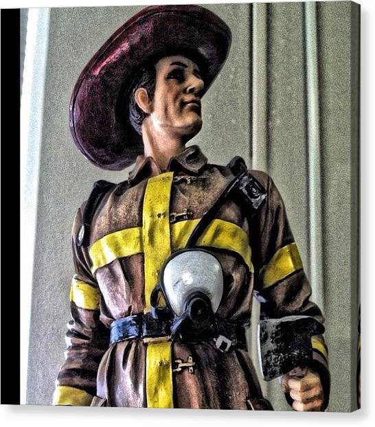 Axes Canvas Print - #iphoneography #iphone4 #firefighter by James Crawshaw