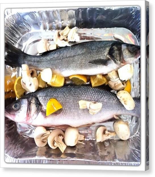 Lemons Canvas Print - #iphoneography #seabass #fish #fresh by Baz Twyman
