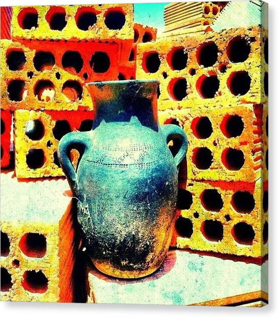 Greek Art Canvas Print - #iphonesia #igersdet #iphoneography by Stacy Stylianou