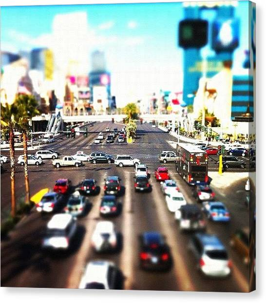 Stoplights Canvas Print - #iphonography #iphoneonly #iphone4 by David Leandro