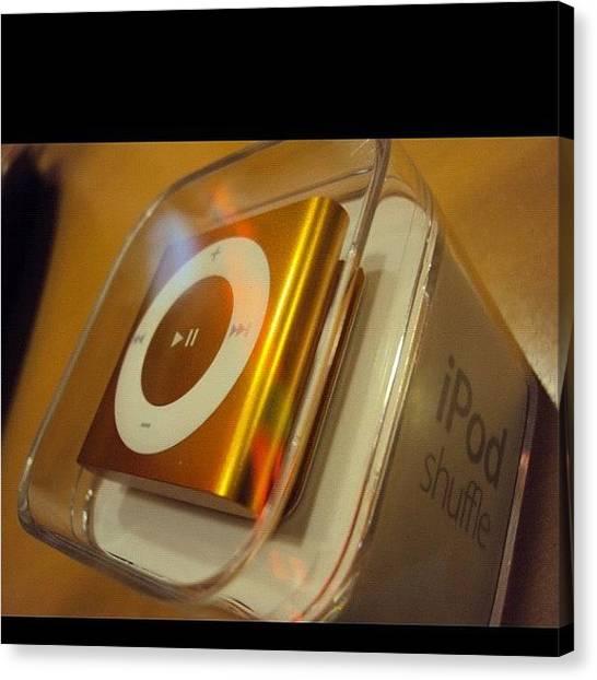 Presents Canvas Print - #ipod Shuffle #ipod #present #orange by Zyrus Zarate