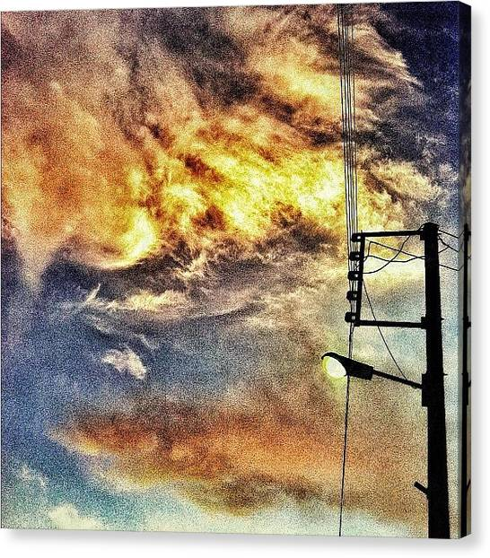 Iranian Canvas Print - #iran #iphoneonly #electricalsky #cloud by Keyvan Shokrollahi