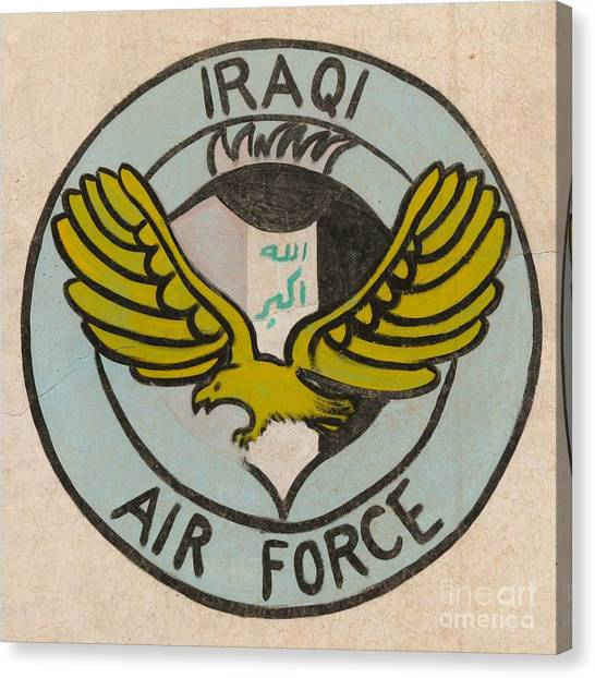 Iraqi Air Force Crest Canvas Print by Unknown