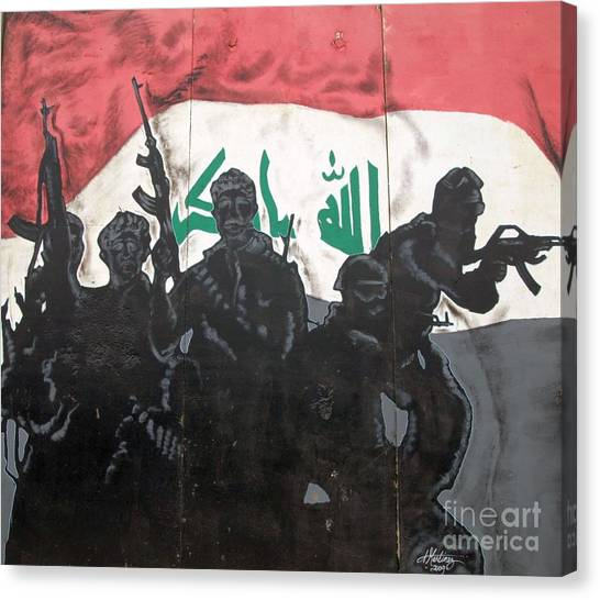 Iraqi Special Forces Canvas Print by Unknown