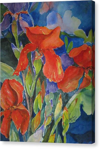 Iris Ablaze Canvas Print